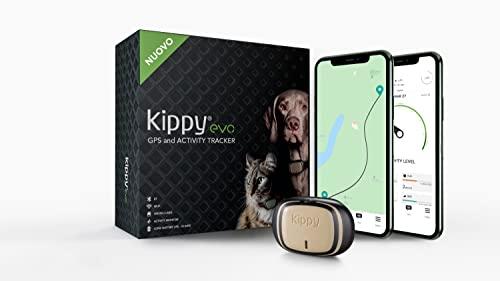 KIPPY - EVO - El Nuevo Collar GPS para Perros y Gatos - Seguimiento de Actividad, 38 gr, Waterproof,...