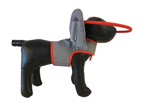 Muffin's Blind Dog Clubhouse Arnés con Anillo Que Protege a los Perros Ciegos, S, Grey20