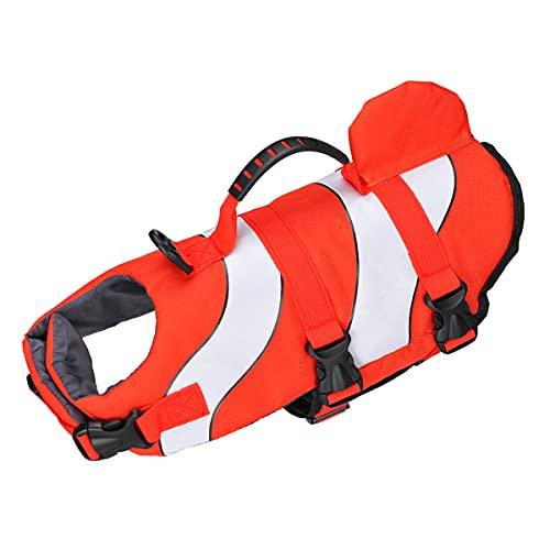 SONGWAY Chaleco salvavidas para perro, traje de baño de protección, rayas reflectantes ajustables,...