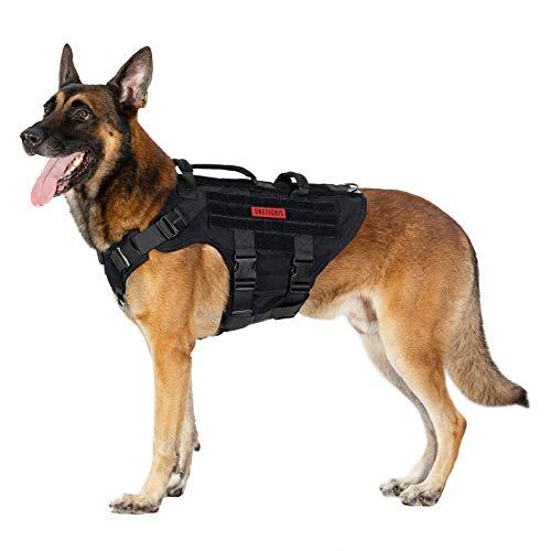 OneTigris K9 X Destroyer - Arnés táctico para perro con 3 asas y hebillas de metal20