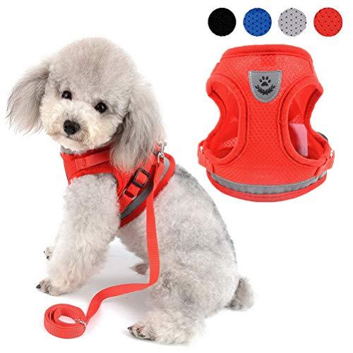 Zunea - Arnés ajustable para cachorros, perros pequeños o gatos, sin tirones, de malla suave,...