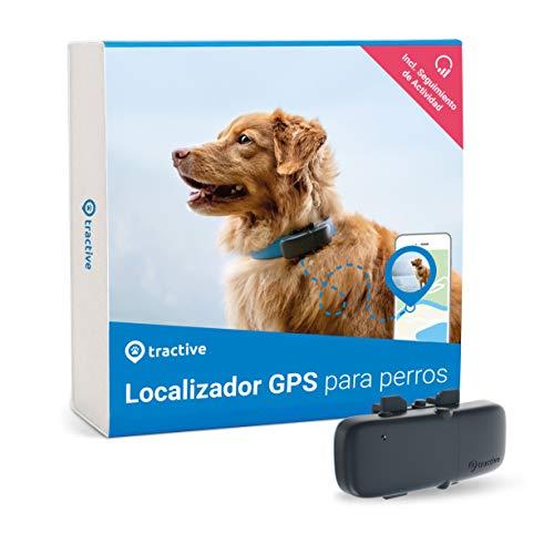 Tractive Localizador GPS para perros, rastreador con rango ilimitado, seguimiento de actividad,...