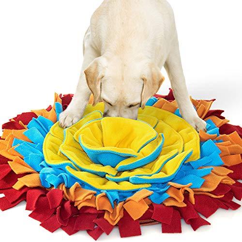 AWOOF Alfombra Olfativa Perros Snuffle Mat, Forma de Flor Comedero Olfativo Manta Olfativa Perro...