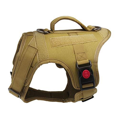 Mudinpet Arnés táctico para perro, chaleco de servicio militar para perros pequeños, medianos y...20