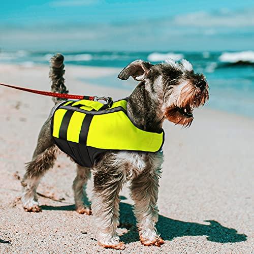 NAMSAN Chaleco Salvavidas para Perros Chaleco Reflectante para Mascotas con Ajustable Seguridad...