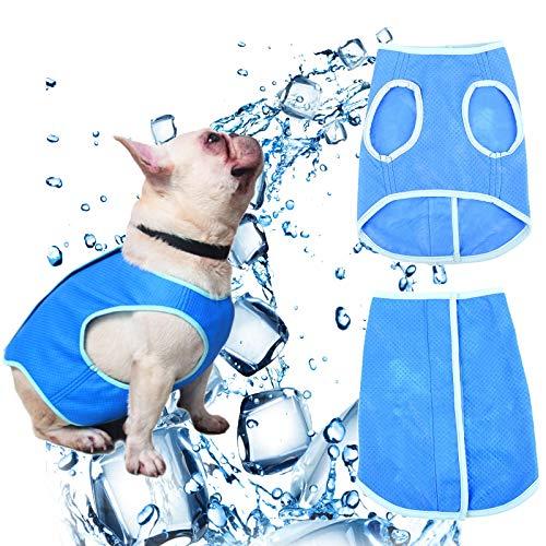 SCOBUTY Chaleco de Enfriamiento para Mascota, Verano Guay Perros Arnés Tipo Chaleco para Perros...